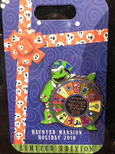 Oogie's Holiday Tricks and Treats Pin