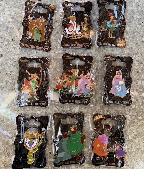 Robin Hood 45th Anniversary WDI Pins