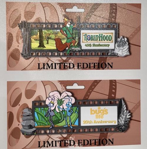 Robin Hood & A Bug's Life Film Strip Pins