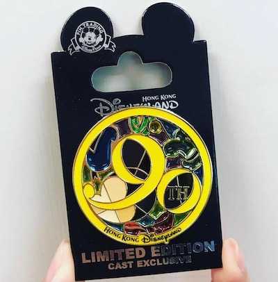 Stained Glass Mickey 90th HKDL Cast Member Pin