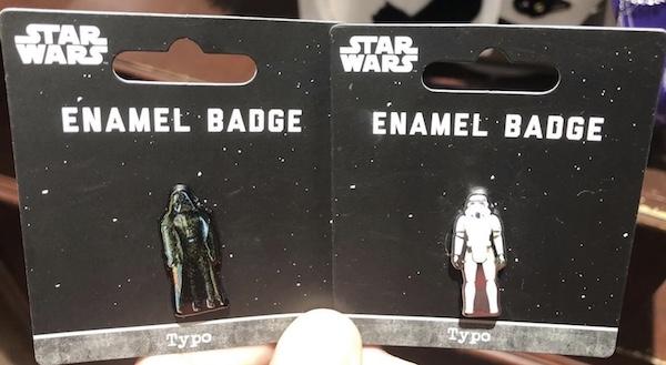 Star Wars Pins at Typo