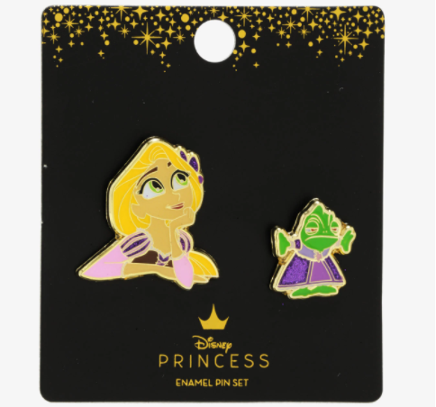 Tangled Rapunzel & Pascal BoxLunch Disney Pin Set