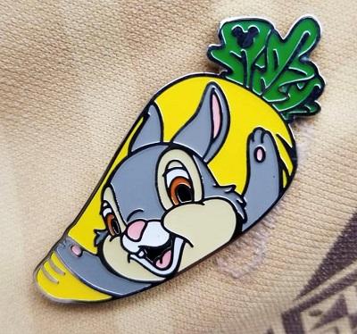 Thumper Carrot Hidden Mickey Pin
