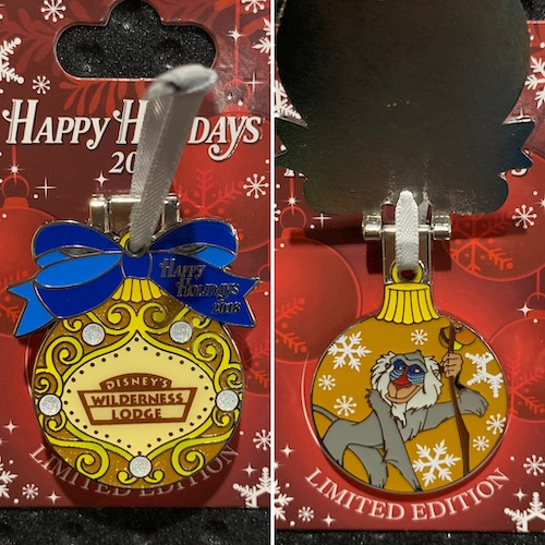 Wilderness Lodge 2018 Holiday Pin