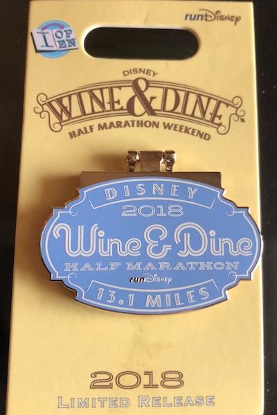 Wine & Dine Half Marathon 2018 Pin