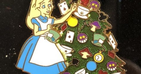 Alice Disneyland Happy Holidays 2018 Pin