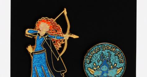 Brave Merida Wisp BoxLunch Disney Pin Set