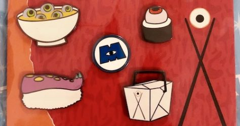 Disney Pixar Monsters Restaurant Pin Set