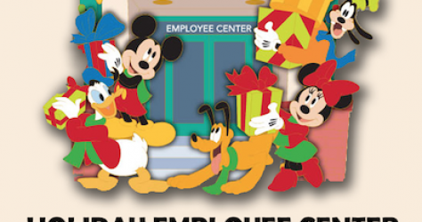 Holiday Employee Center Disney Pin
