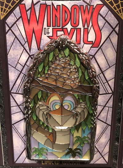 Kaa Windows of Evil Disney Pin