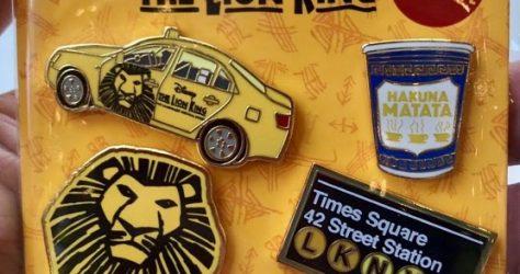 Lion King NYC Pin Set