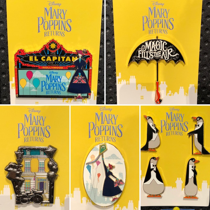 Mary Poppins Returns DSSH Pin Series