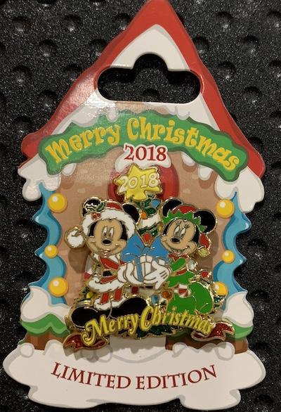 Merry Christmas 2018 Disney Pin