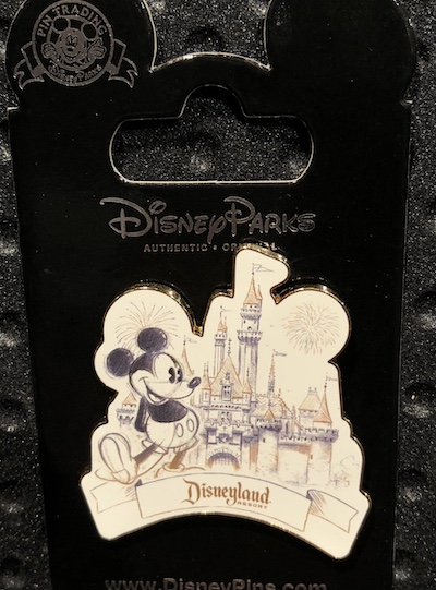 Mickey - Sleeping Beauty Castle Disneyland Sketch Pin