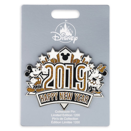 Mickey and Minnie Mouse Happy New Year 2019 Jumbo Pin ...