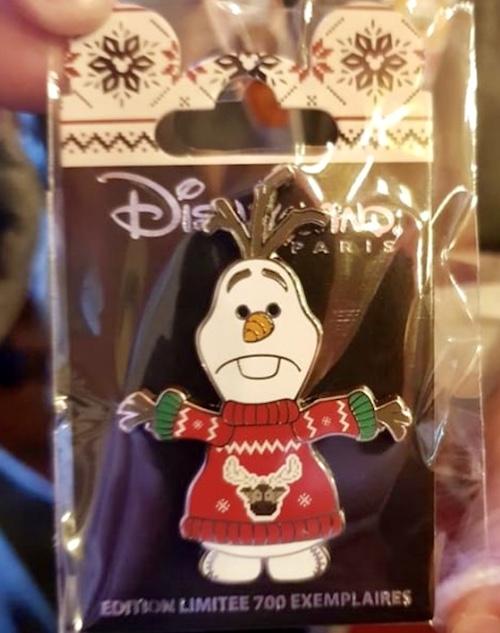 Olaf Holiday Sweater Disneyland Paris Pin