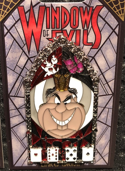 Queen of Hearts Windows of Evil Disney Pin