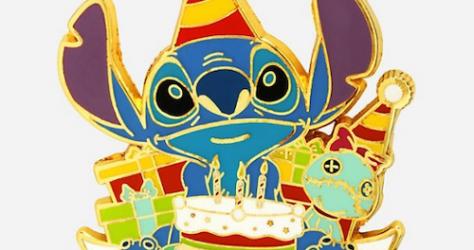 Stitch Happy Birthday BoxLunch Disney Pin