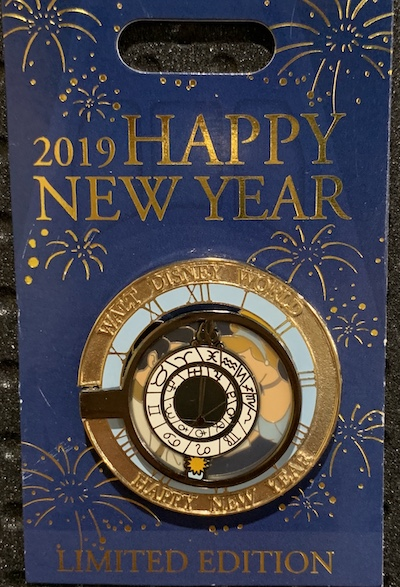 Walt Disney World Happy New Year 2019 Pin