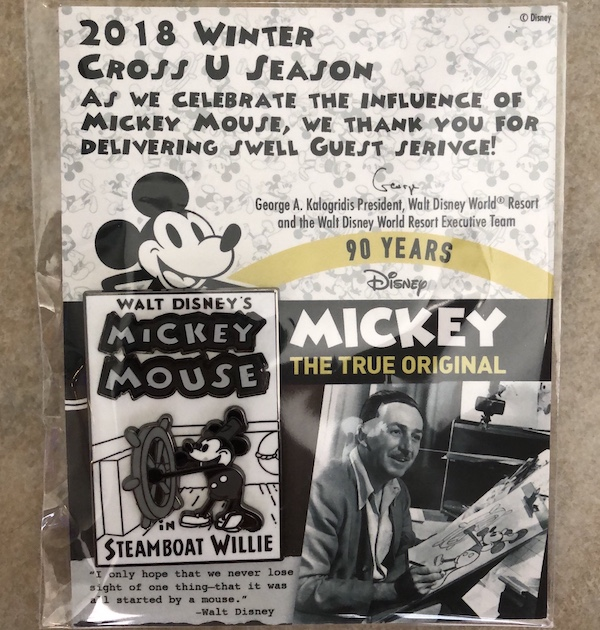 2018 Steamboat Willie Cast Member Pin