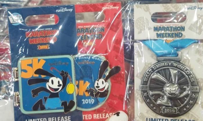 5K Disney Pins - WDW Marathon 2019