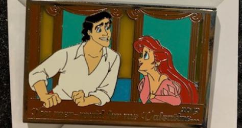 Ariel Valentine's Day Pin
