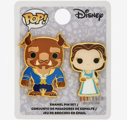 Beauty and the Beast Funko Pop! Disney BoxLunch Pin Set