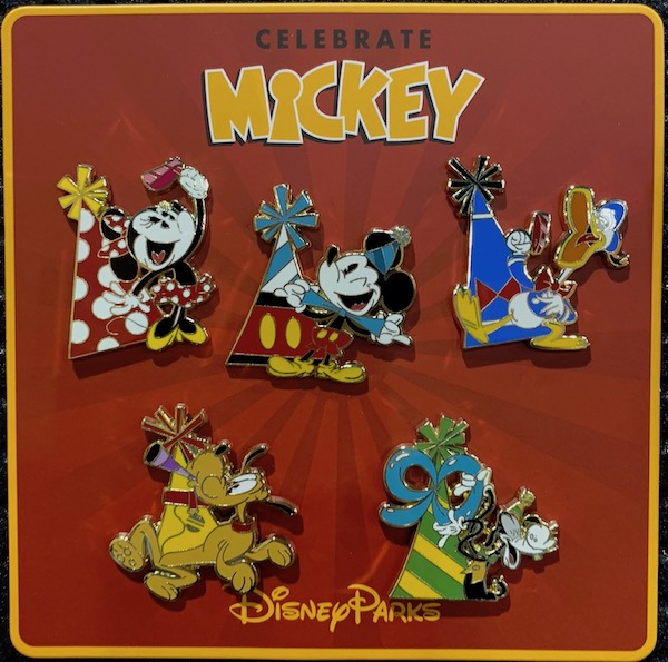 Celebrate Mickey 90th Booster Pin Set