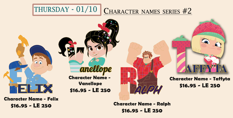Character Names Series #2 Cast Member Pins
