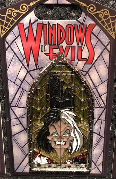 Cruella De Vil Windows of Evil Disney Pin