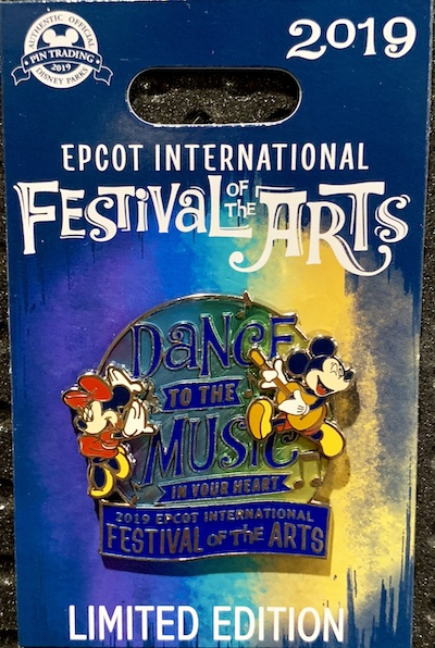 Dance to the Music Epcot Arts Pin
