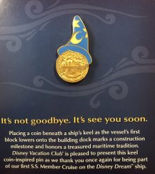 Disney Dream DVC Member Cruise Pin