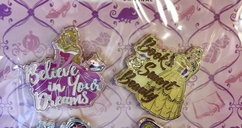 Disney Princess Quotes Pin Set
