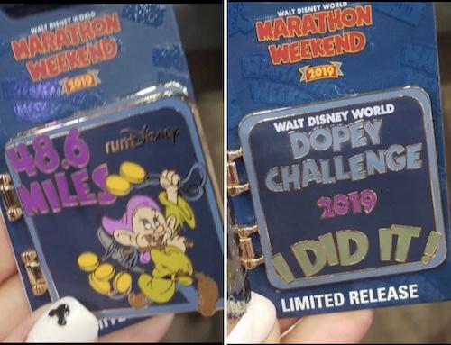 Dopey Challenge Disney Pins - WDW Marathon 2019