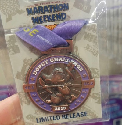 Dopey Challenge Medal Disney Pin - WDW Marathon 2019