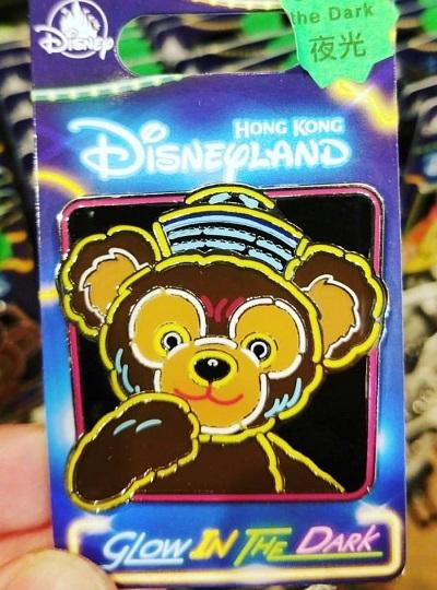 Duffy Bear Glow in the Dark HKDL Pin