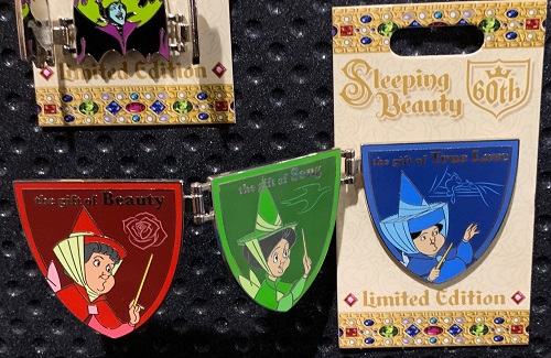 Fairy Godmothers Sleeping Beauty 60th Disney Pin