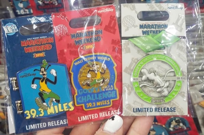 Goofy Challenge Disney Pins - WDW Marathon 2019