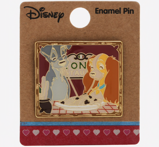 Lady and the Tramp Spaghetti Dinner BoxLunch Disney Pin