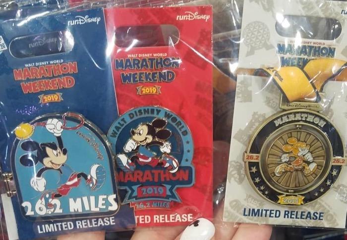 Marathon Disney Pins - WDW Marathon 2019