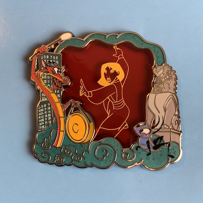 Mulan Stained Glass Park Pack Pin