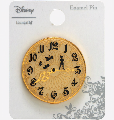 Peter Pan Clock BoxLunch Disney Pin