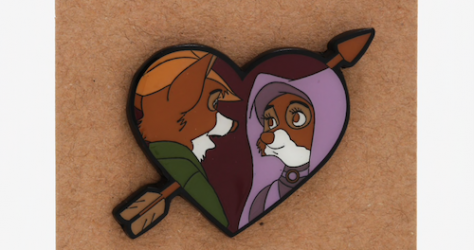 Robin Hood & Maid Marian Heart Pin BoxLunch Disney Pin