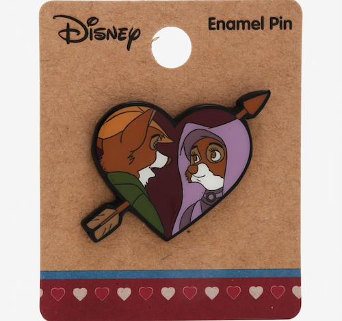 Robin Hood & Maid Marian Heart Pin BoxLunch Disney Pin