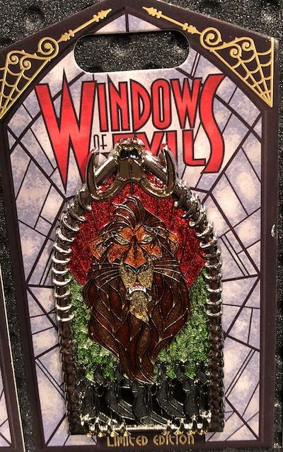 Scar Windows of Evil Disney Pin