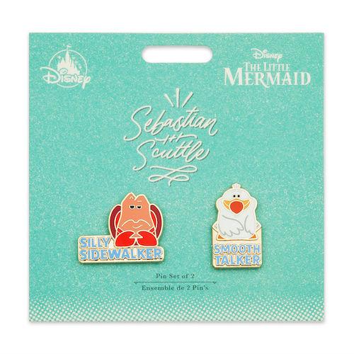 Sebastian and Scuttle Disney Duos Pin Set