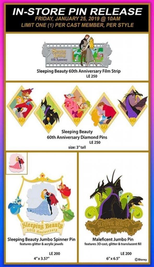 Sleeping Beauty 60th Anniversary WDI Pin Release