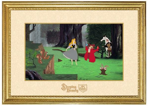 Sleeping Beauty 60th Framed Pin Set