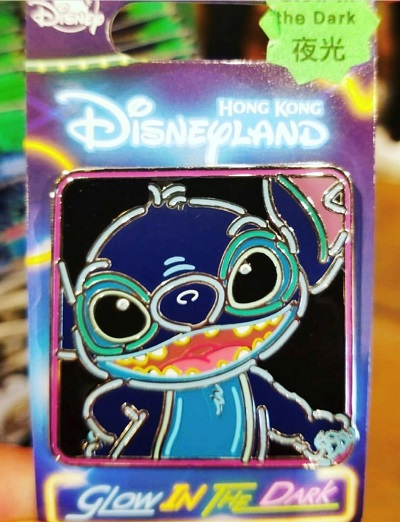 Stitch Glow in the Dark HKDL Pin