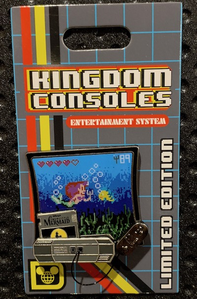 The Little Mermaid Kingdom Consoles Pin